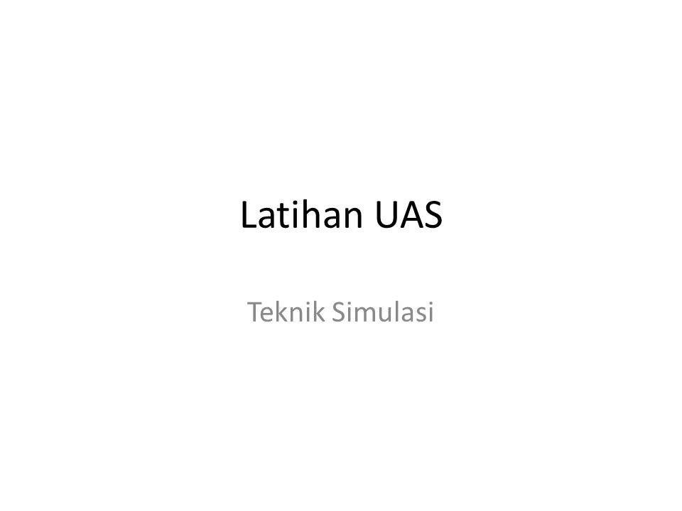 Latihan UAS Teknik Simulasi