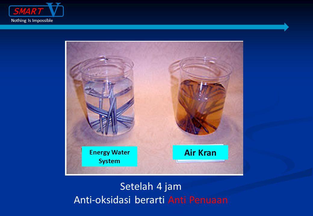 Setelah 4 jam Anti-oksidasi berarti Anti Penuaan Energy Water System Air Kran SMART V Nothing Is Impossible
