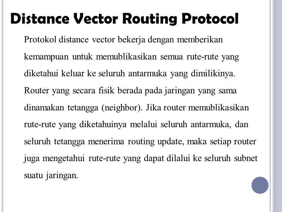 Paket dalam jaringan dimungkinkan terjadi routing loop.