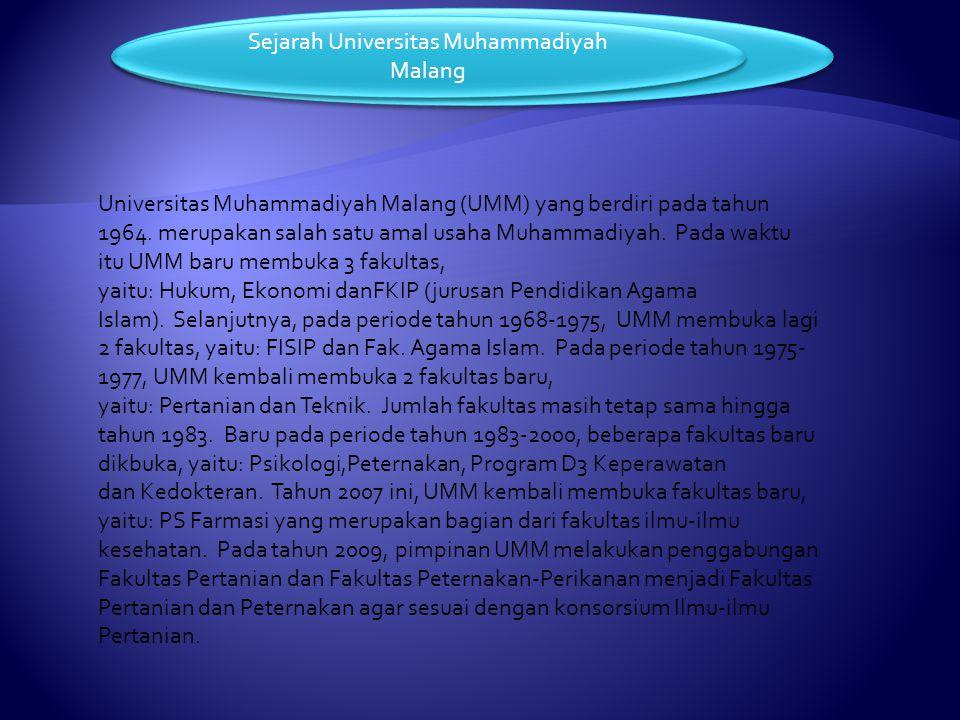 Sejarah Universitas Muhammadiyah Malang Fakultas Di Universitas Muhammadiyah Malang
