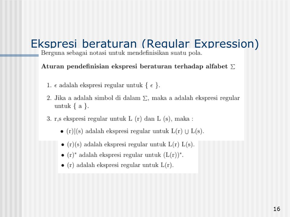16 Ekspresi beraturan (Regular Expression)