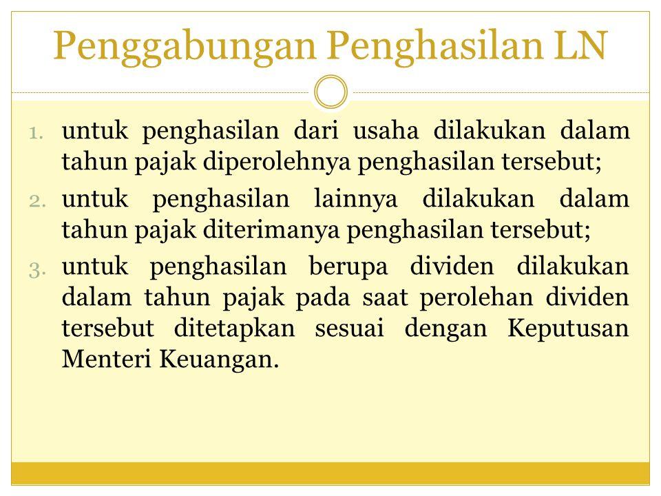 Penggabungan Penghasilan LN 1.