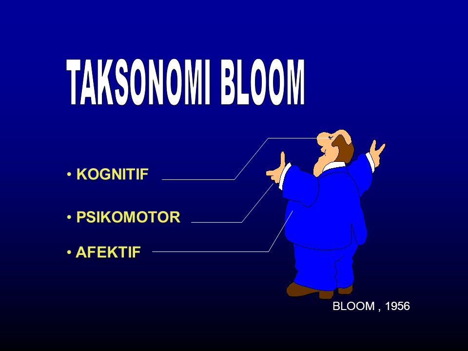 KOGNITIF BLOOM, 1956 PSIKOMOTOR AFEKTIF