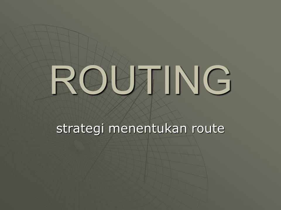 ROUTING strategi menentukan route