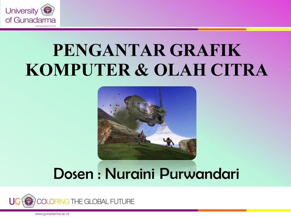 PENGANTAR GRAFIK KOMPUTER & OLAH CITRA Dosen : Nuraini Purwandari