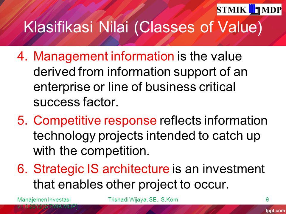 Two-Domain Analysis Manajemen Investasi v1.0 2012 [STMIK MDP] Trisnadi Wijaya, SE., S.Kom40
