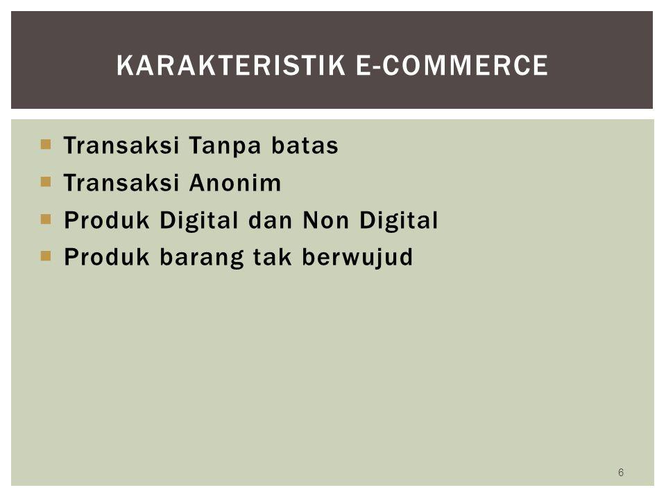 Model EC dimana individu menggunakan Internet untuk menjual produk atau jasa kepada perusahaan atau individu, atau untuk mencari penjual atas produk atau jasa yang diperlukannya 27 CONSUMER TO BUSINESS (C2B) konsumen Portal EC Perusahaan C2B