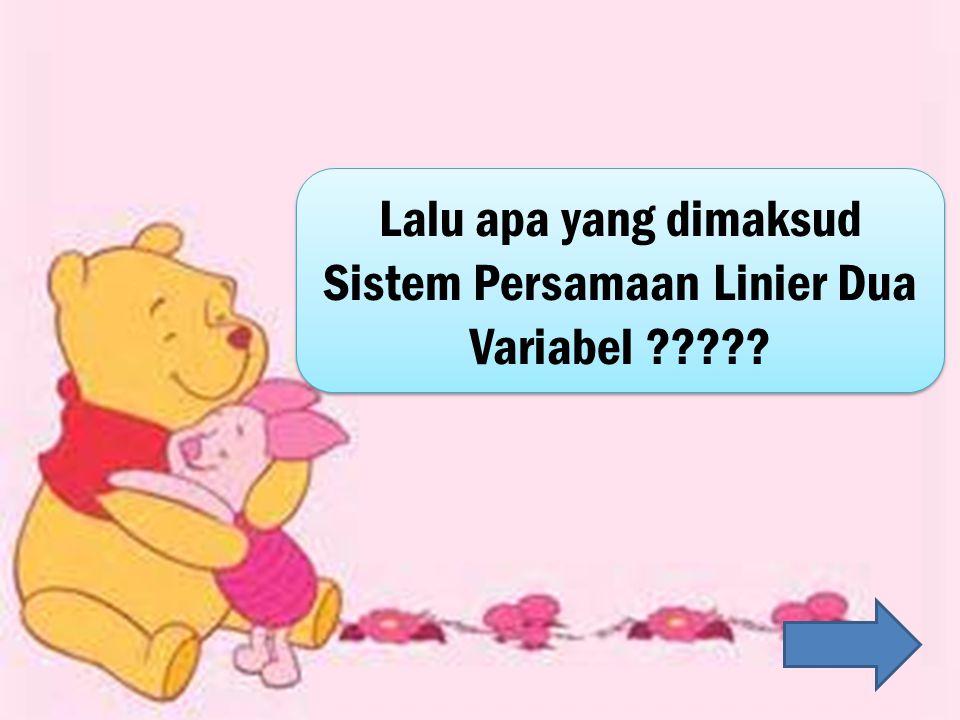 Lalu apa yang dimaksud Sistem Persamaan Linier Dua Variabel ?????