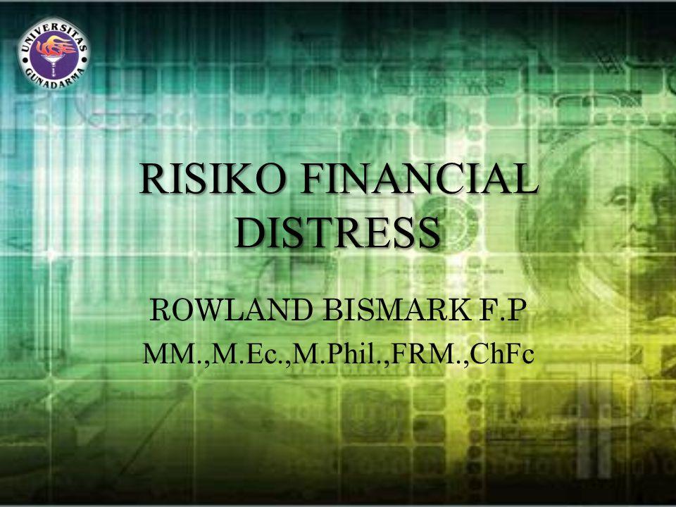 RISIKO FINANCIAL DISTRESS ROWLAND BISMARK F.P MM.,M.Ec.,M.Phil.,FRM.,ChFc