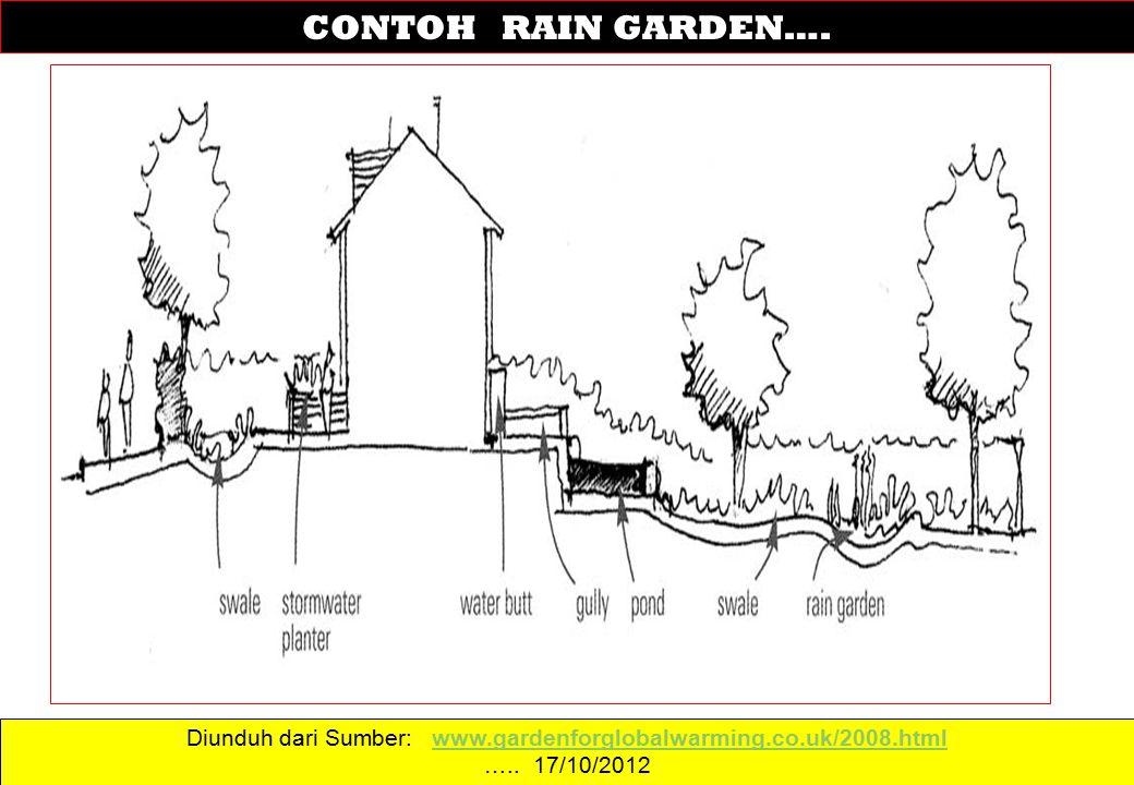Diunduh dari Sumber: www.gardenforglobalwarming.co.uk/2008.htmlwww.gardenforglobalwarming.co.uk/2008.html ….. 17/10/2012 CONTOH RAIN GARDEN….