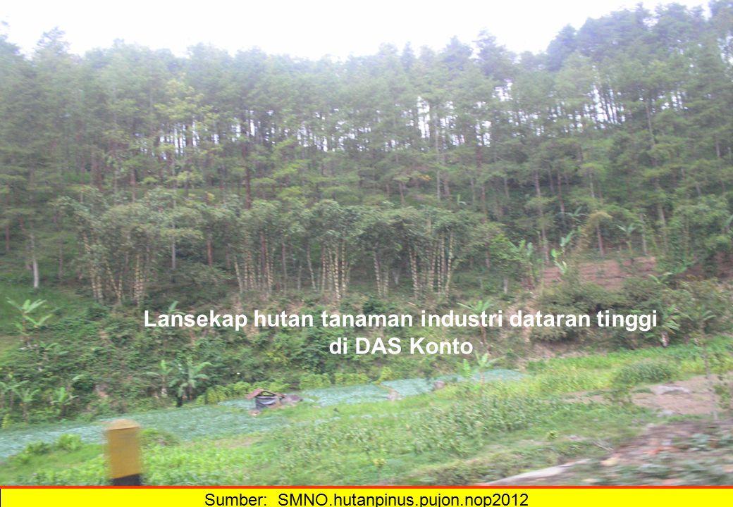 Sumber: SMNO.hutanpinus.pujon.nop2012 Lansekap hutan tanaman industri dataran tinggi di DAS Konto