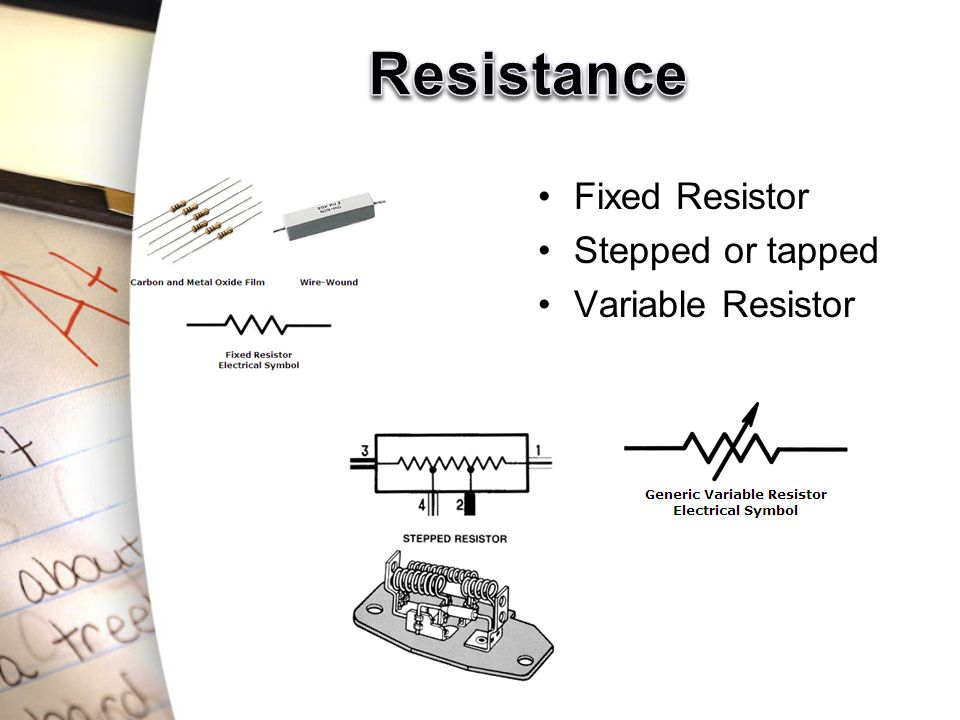 Fixed Resistor Stepped or tapped Variable Resistor