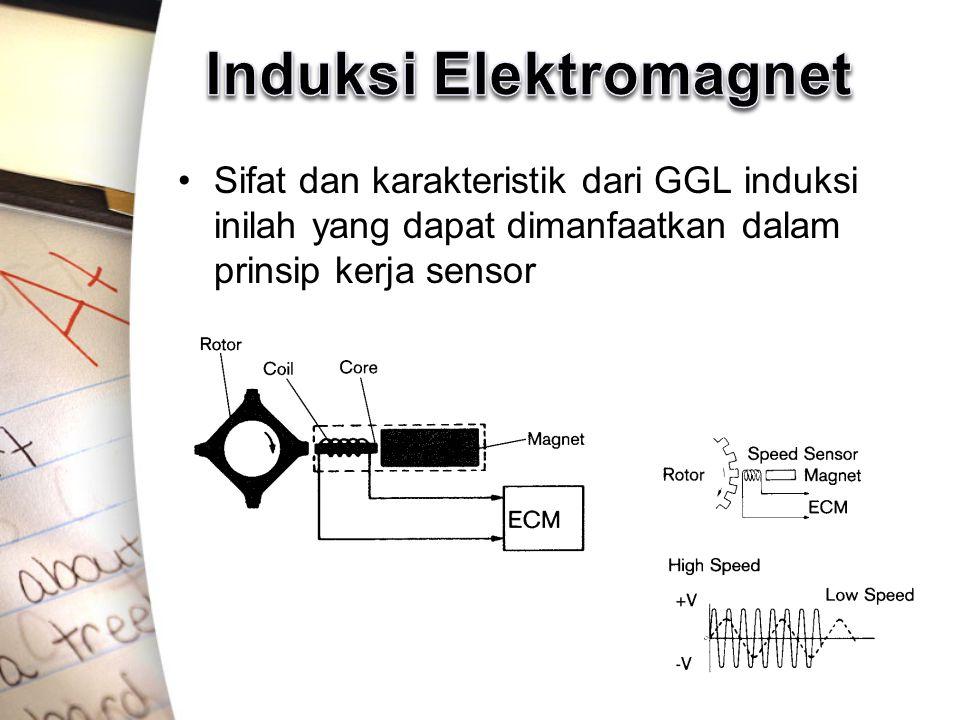 Sifat dan karakteristik dari GGL induksi inilah yang dapat dimanfaatkan dalam prinsip kerja sensor