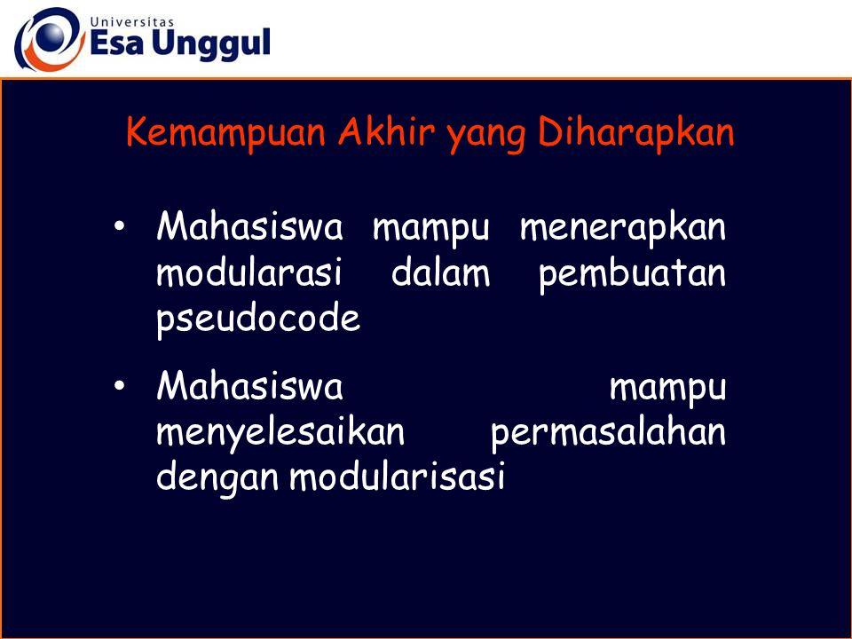 MATERI BELAJAR Contoh Program dengan Modularisasi C.