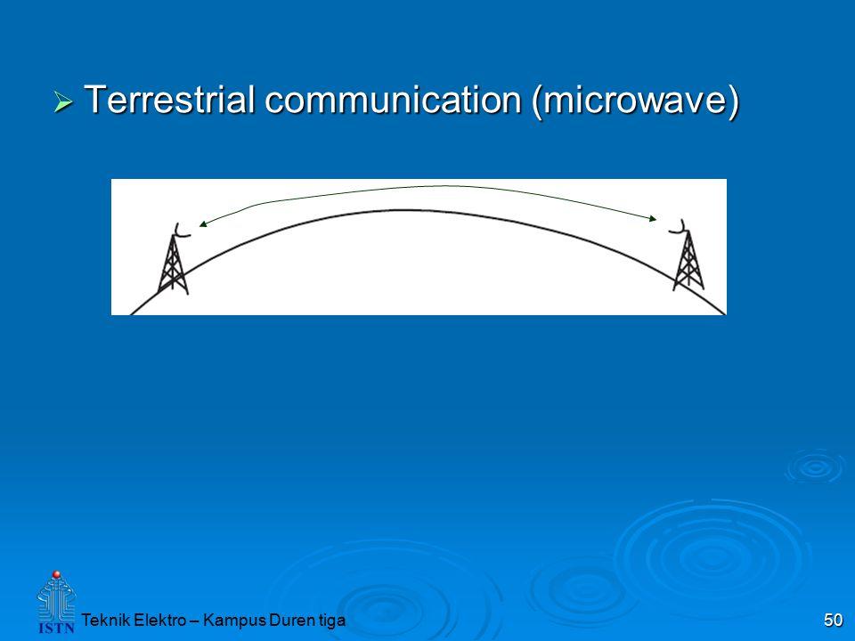 Teknik Elektro – Kampus Duren tiga 50  Terrestrial communication (microwave)