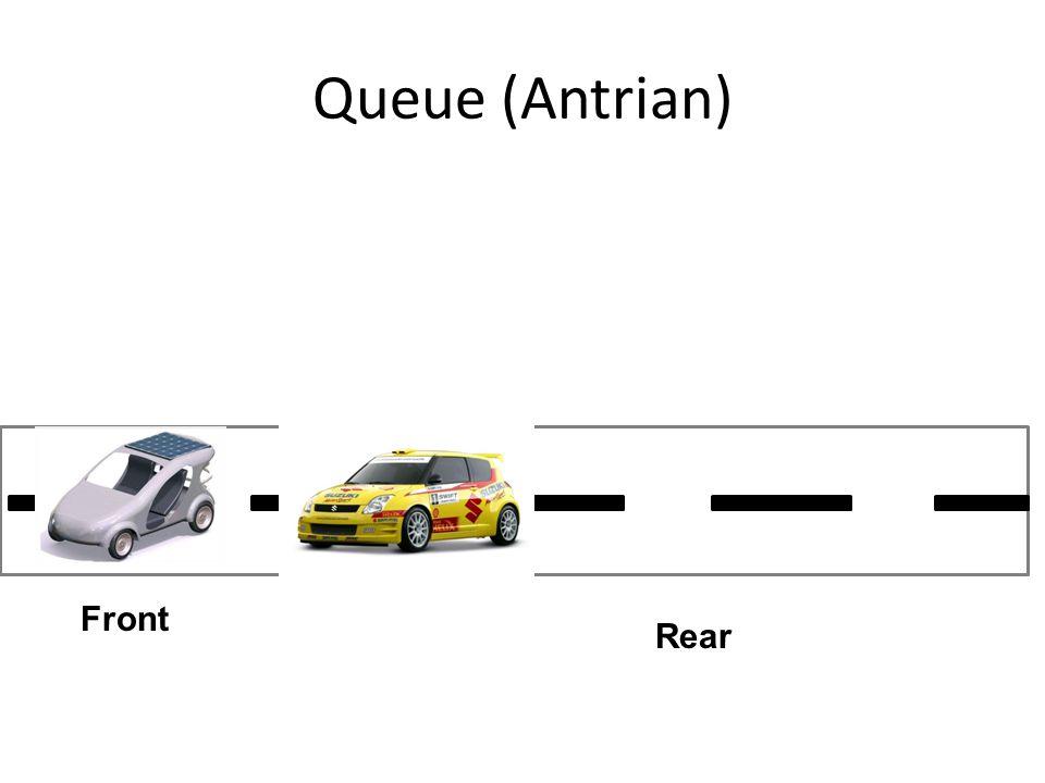 Queue (Antrian) Front Rear