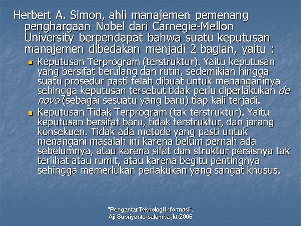Pengantar Teknologi Informasi , Aji Supriyanto-salemba-jkt-2005 Herbert A.
