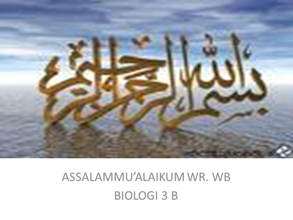 ASSALAMMU'ALAIKUM WR. WB BIOLOGI 3 B