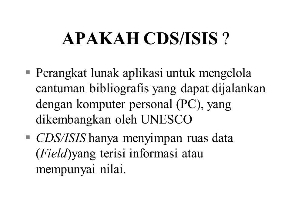 APAKAH CDS/ISIS .