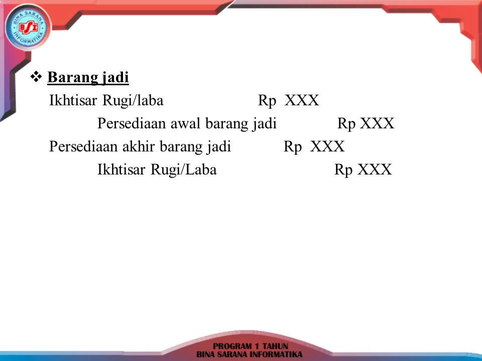 Cth Laporan laba/rugi Perusahaan Industri Nama Perusahaan Laporan Laba/Rugi Periode:..………..