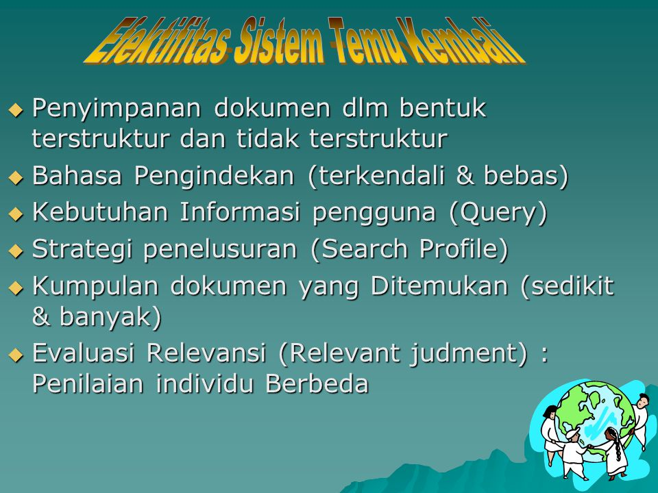  Single term (istilah tunggal) Cat : 587 posting Cat : 587 posting  Term Trancation (* dan +) Cat* : 901 posting Cat* : 901 posting Cat+ : 75.224 po