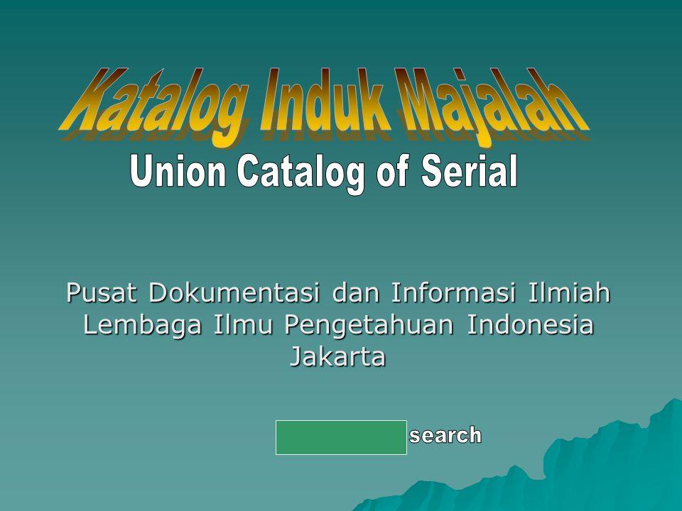 Pusat Dokumentasi dan Informasi Ilmiah Lembaga Ilmu Pengetahuan Indonesia Jakarta