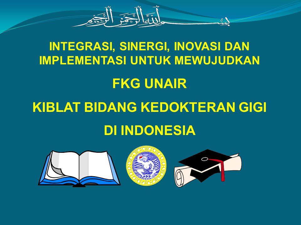 INTEGRASI, SINERGI, INOVASI DAN IMPLEMENTASI UNTUK MEWUJUDKAN FKG UNAIR KIBLAT BIDANG KEDOKTERAN GIGI DI INDONESIA