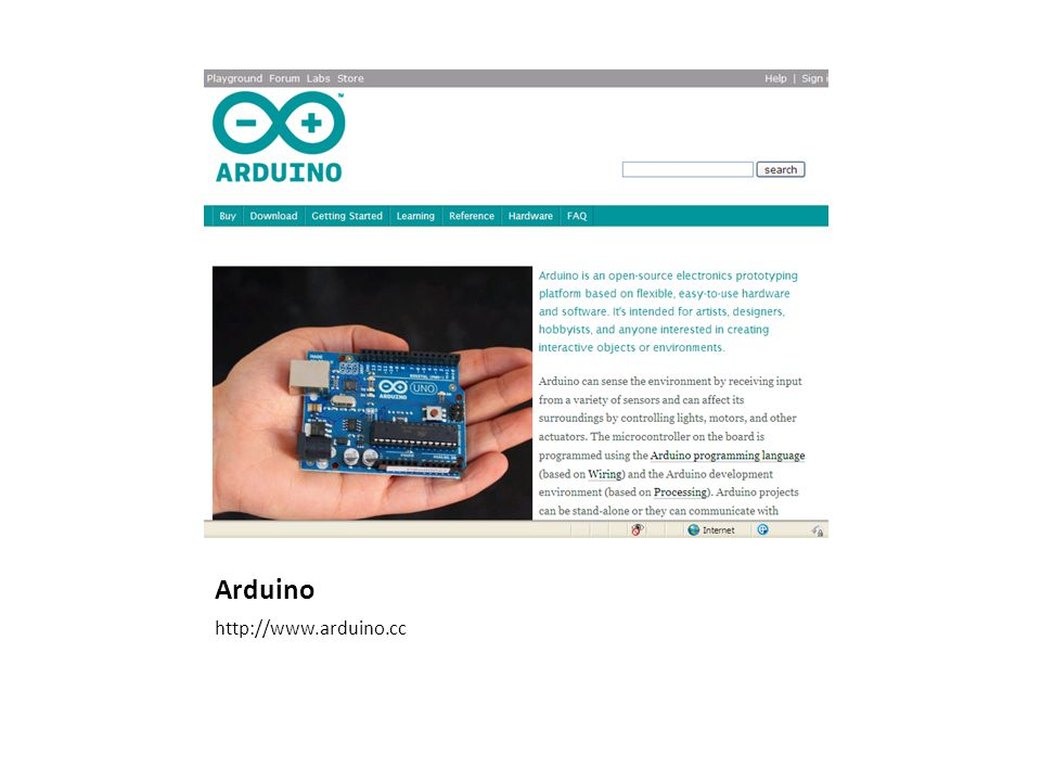 Filosofi Arduino Open source hardware/software prototyping platform Physical computing: computer that can sense and control physical world compared to ordinary computer (PC)