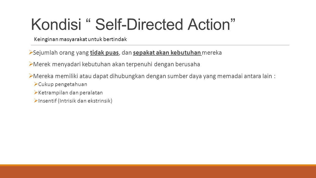 """Kondisi """" Self-Directed Action""""  Sejumlah orang yang tidak puas, dan sepakat akan kebutuhan mereka  Merek menyadari kebutuhan akan terpenuhi dengan"""