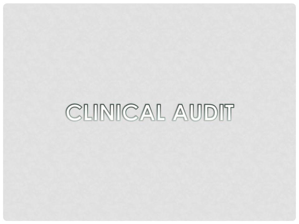 TOPIK YANG PERLU DIAUDIT: Layanan klinis yang diterima oleh pasien Manajemen (atau organisasi) fasilitas kesehatan Aspek hak asasi manusia dari layanan medis