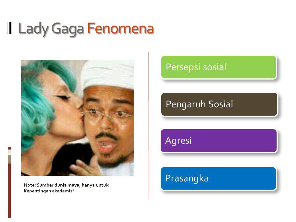Lady Gaga Fenomena Persepsi sosialPengaruh SosialAgresiPrasangka Note: Sumber dunia maya, hanya untuk Kepentingan akademis*