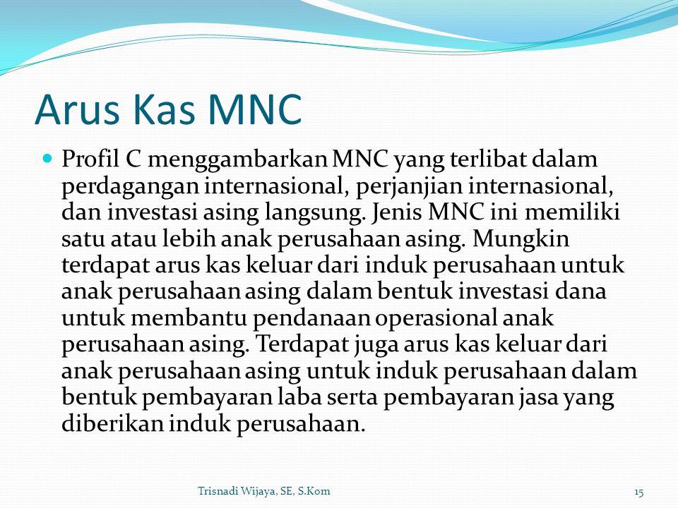 Arus Kas MNC Profil C menggambarkan MNC yang terlibat dalam perdagangan internasional, perjanjian internasional, dan investasi asing langsung. Jenis M