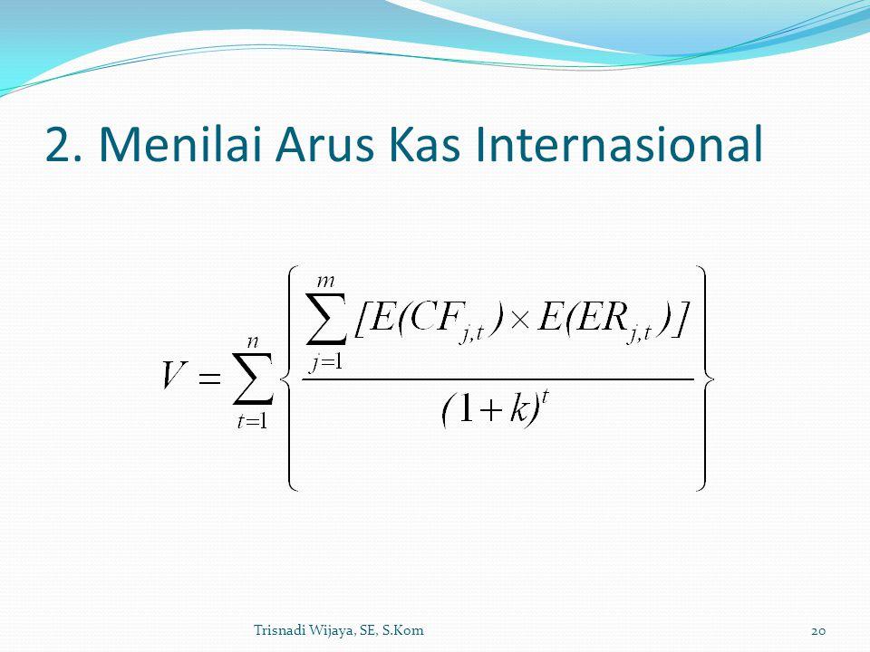 2. Menilai Arus Kas Internasional Trisnadi Wijaya, SE, S.Kom20