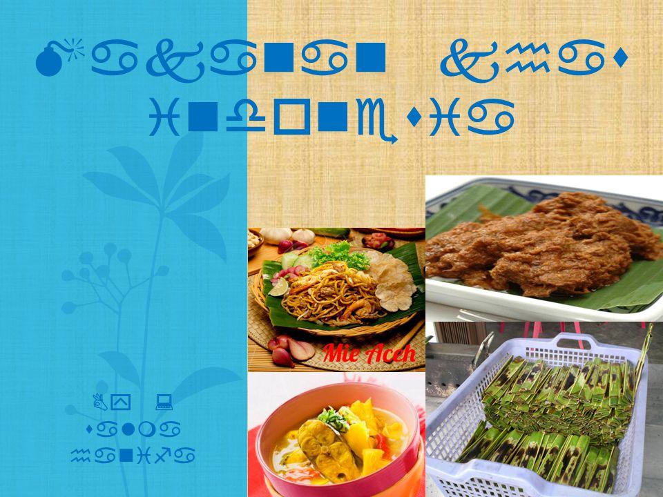 Makanan khas indonesia By : salma hanifa