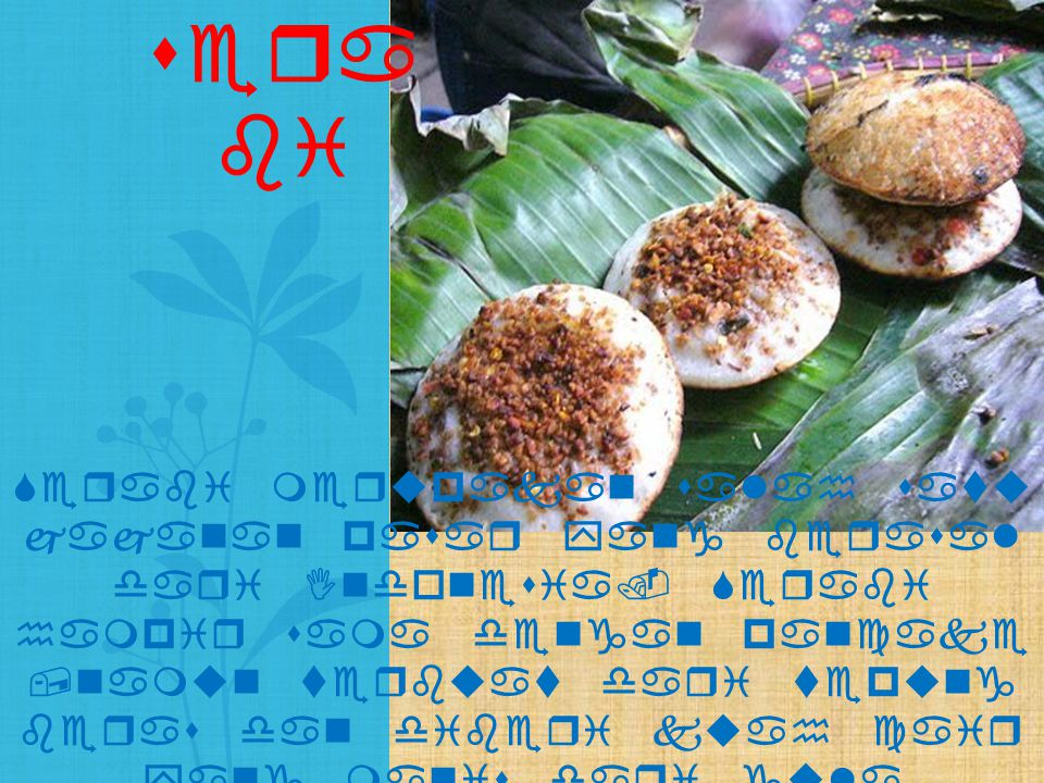 Serabi merupakan salah satu jajanan pasar yang berasal dari Indonesia. Serabi hampir sama dengan pancake,namun terbuat dari tepung beras dan diberi ku
