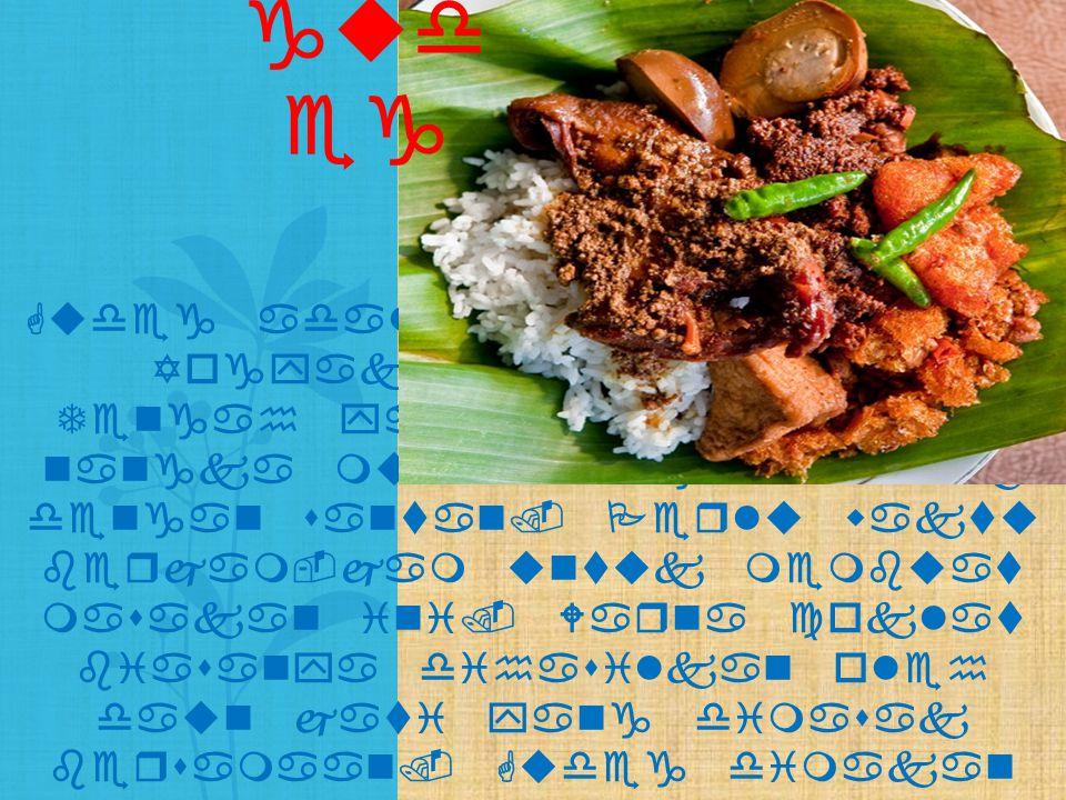 Gudeg adalah makanan khas Yogyakarta dan Jawa Tengah yang terbuat dari nangka muda yang dimasak dengan santan. Perlu waktu berjam-jam untuk membuat ma