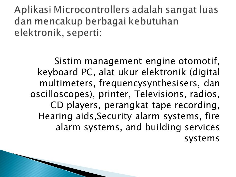 Microcontroller s fundamental components