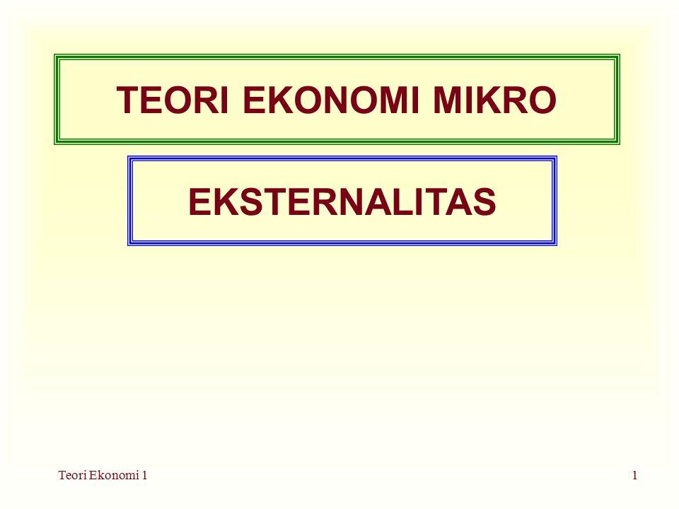 Teori Ekonomi 11 TEORI EKONOMI MIKRO EKSTERNALITAS