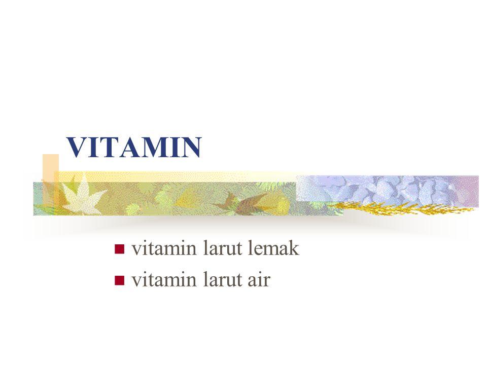 VITAMIN vitamin larut lemak vitamin larut air