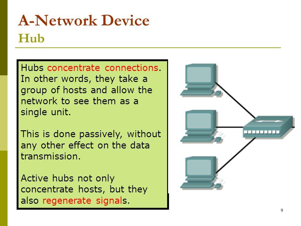 10 A-Network Device Bridge Bridges convert network transmission data formats as well as perform basic data transmission management.