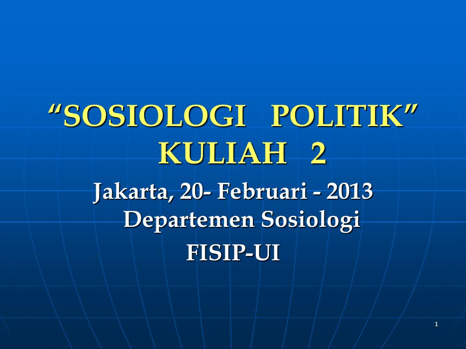 NEOPLURALISME Pluralisme-Ilmu Politik: kompetisi dan konflik kelompok2 kepentingan (interest groups), parpol, dan pemilu.
