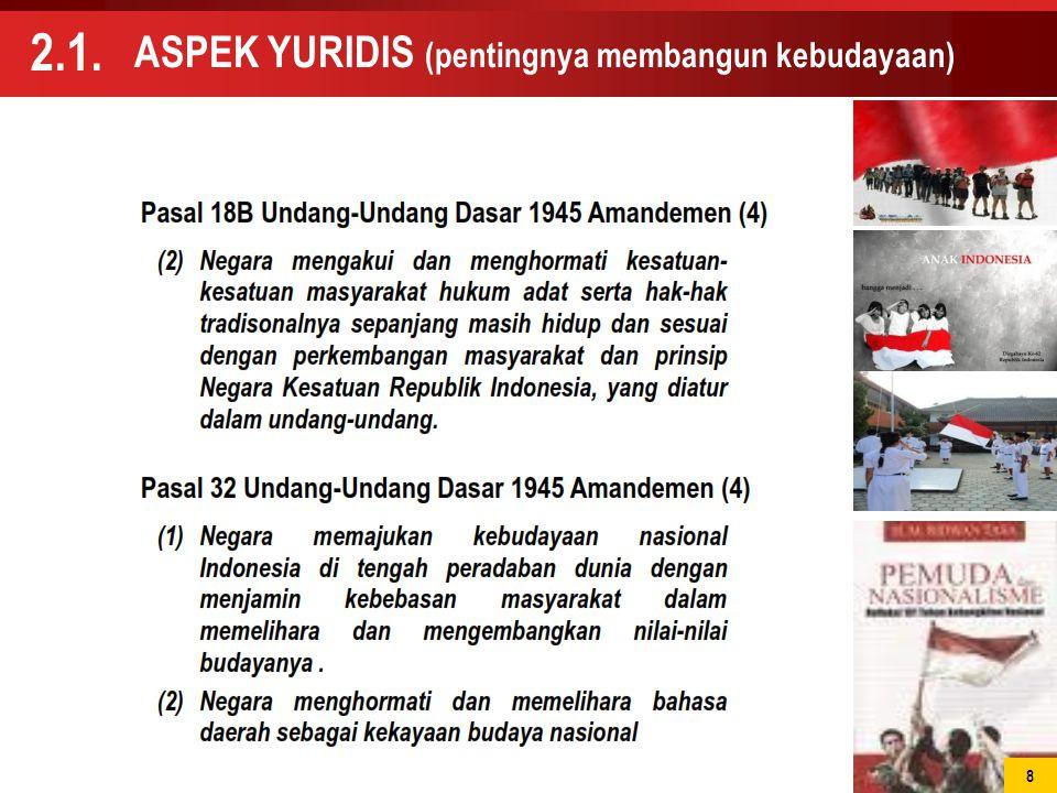 ASPEK YURIDIS (pentingnya membangun kebudayaan) 2.1. 8