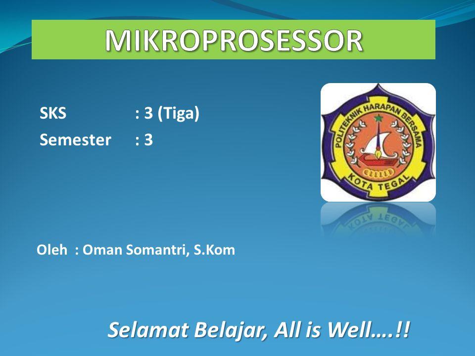 SKS: 3 (Tiga) Semester: 3 Oleh : Oman Somantri, S.Kom Selamat Belajar, All is Well….!!