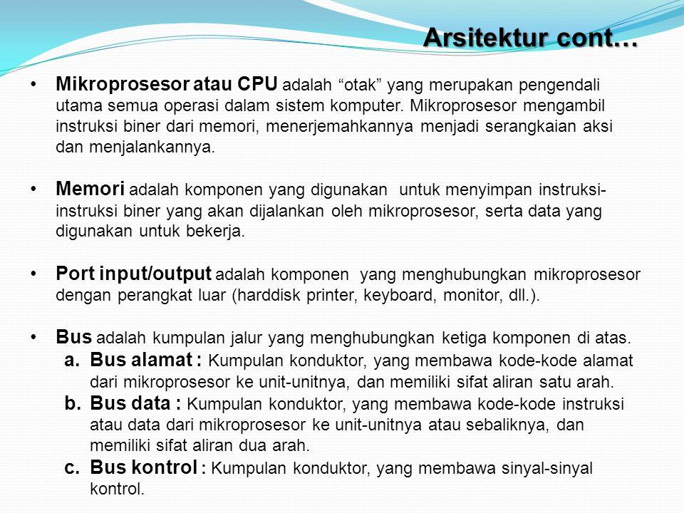 Mikroprosesor atau CPU adalah otak yang merupakan pengendali utama semua operasi dalam sistem komputer.