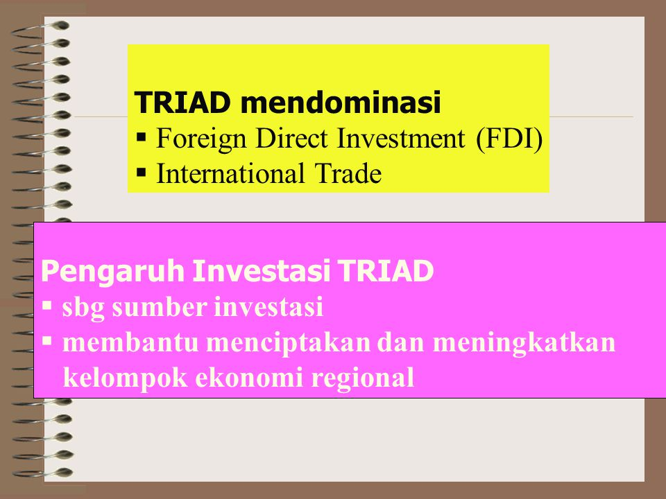 ECONOMIC SUPERPOWERS (THE TRIAD,GOLDEN TRIANGLE) UNITED STATE UNITED STATES JAPAN E.C Global flows of trade of triad in the end of 1990 48,6 91,1 96,5