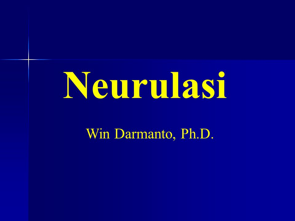 Neurulasi Win Darmanto, Ph.D.