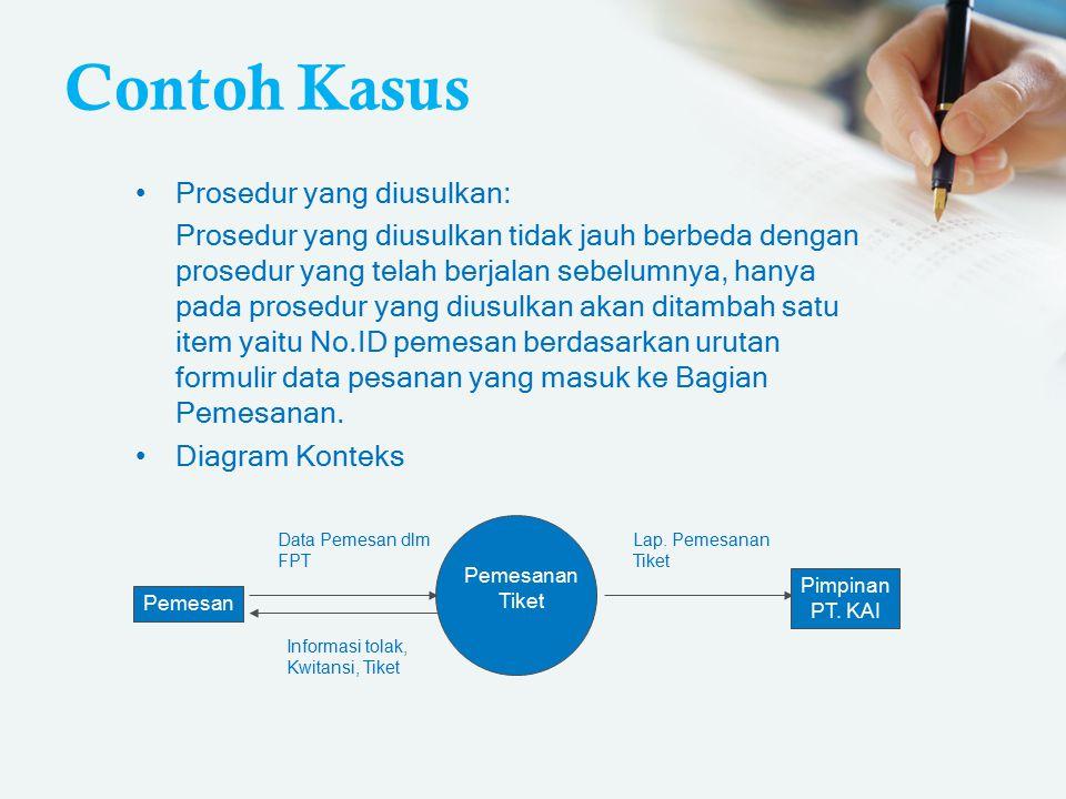 Contoh Kasus Prosedur yang diusulkan: Prosedur yang diusulkan tidak jauh berbeda dengan prosedur yang telah berjalan sebelumnya, hanya pada prosedur y