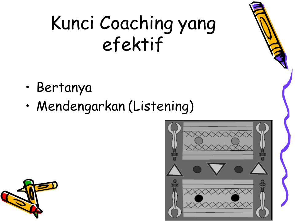 Kunci Coaching yang efektif Bertanya Mendengarkan (Listening)