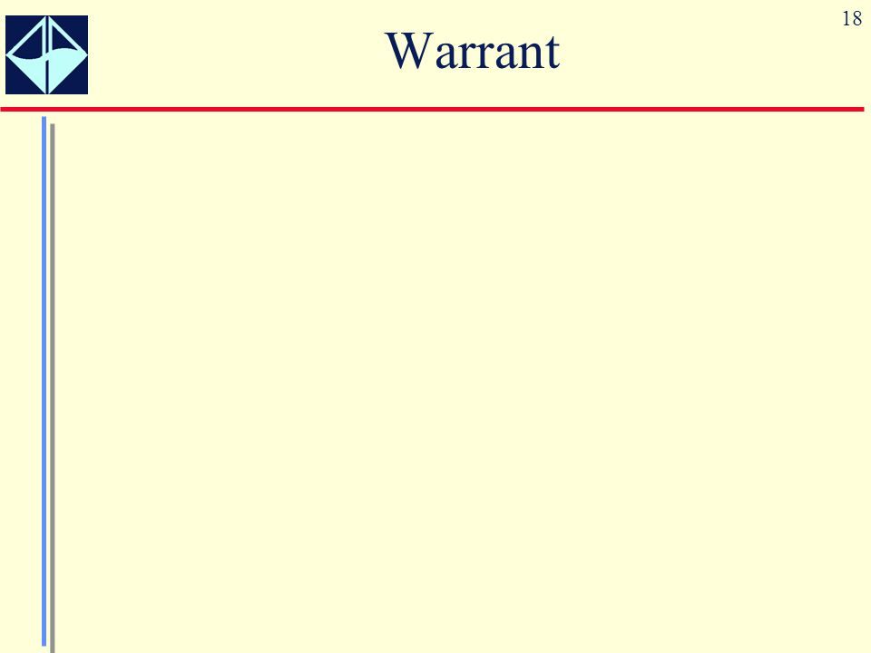 18 Warrant
