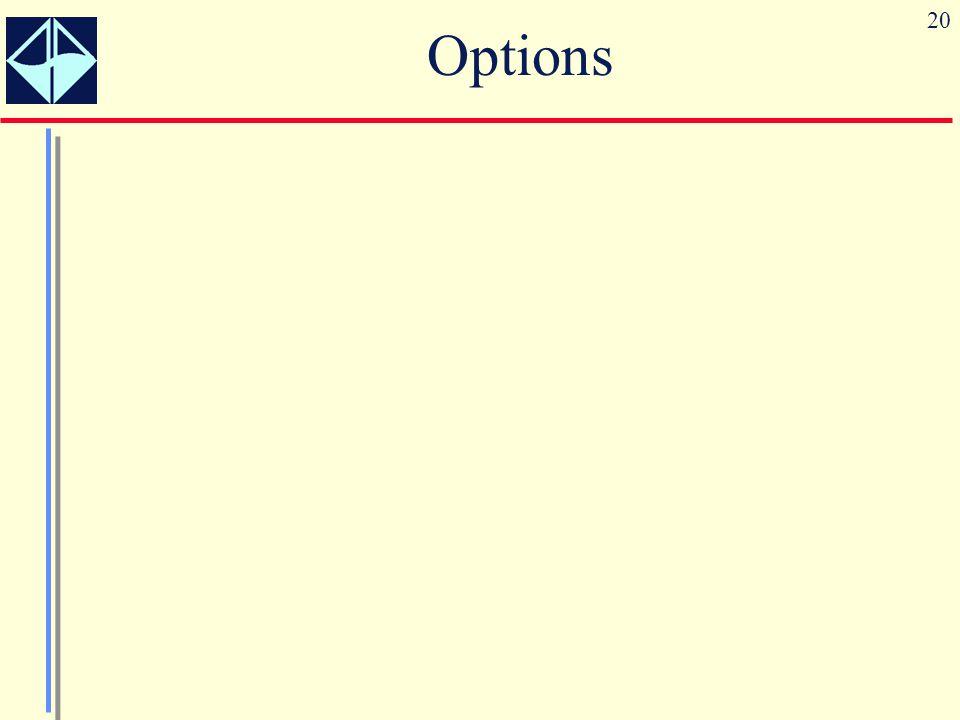 20 Options